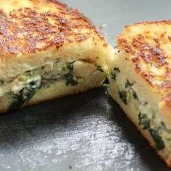 Receta de Pan relleno de espinaca y queso