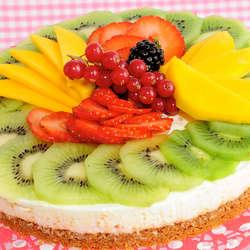 Receta de Tarta de queso con frutas