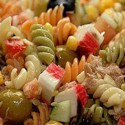 Receta de Ensalada de pastas coloridas