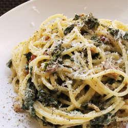 Receta de Spaghetti con sala tapenade