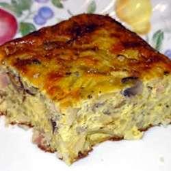 Torta de papa y jamon