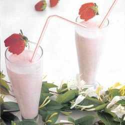 Licuado de frutillas a la crema