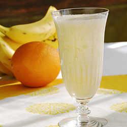 Licuado de naranja con banana