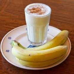 Batido de avena y bananas
