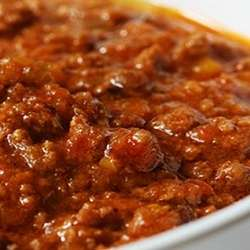 Receta de Salsa  a  la  boloñesa (con carne picada)